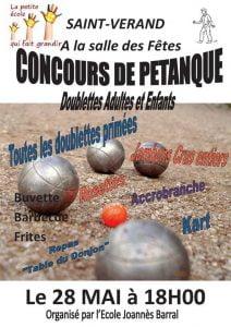 Concours de pétanque @ Salle des fêtes | Saint-Vérand | Auvergne Rhône-Alpes | France