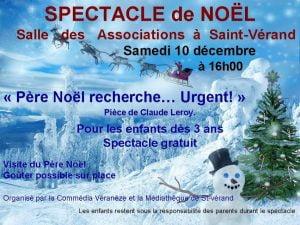 Spectacle de Noël @ Salle des associations   Saint-Vérand   Auvergne-Rhône-Alpes   France